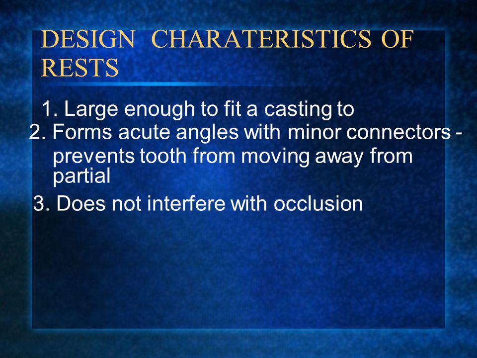 DESIGN CHARATERISTICS OF RESTS