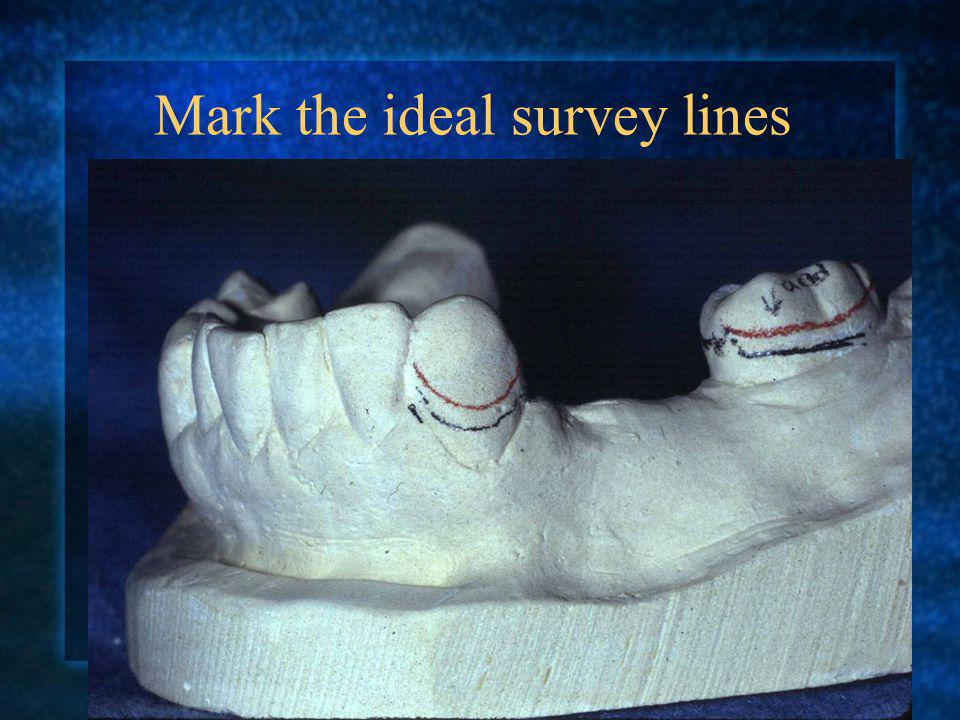 Mark the ideal survey lines