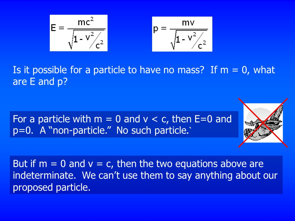 Is it possible for a particle to have no mass
