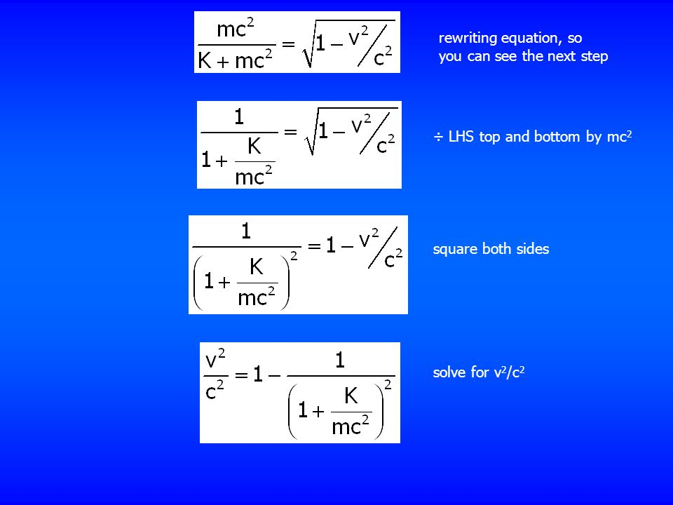 rewriting equation, so you can see the next step