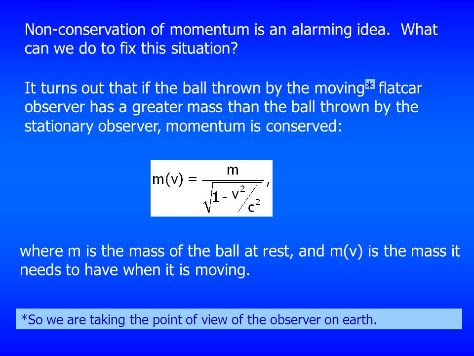 Non-conservation of momentum is an alarming idea