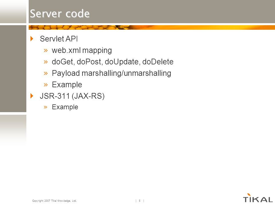 Server code Servlet API web.xml mapping