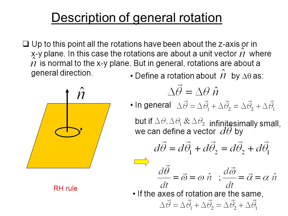 Description of general rotation