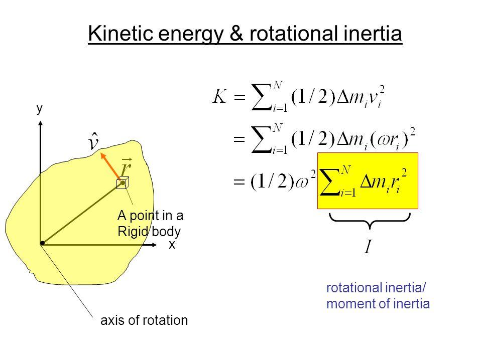 Kinetic energy & rotational inertia