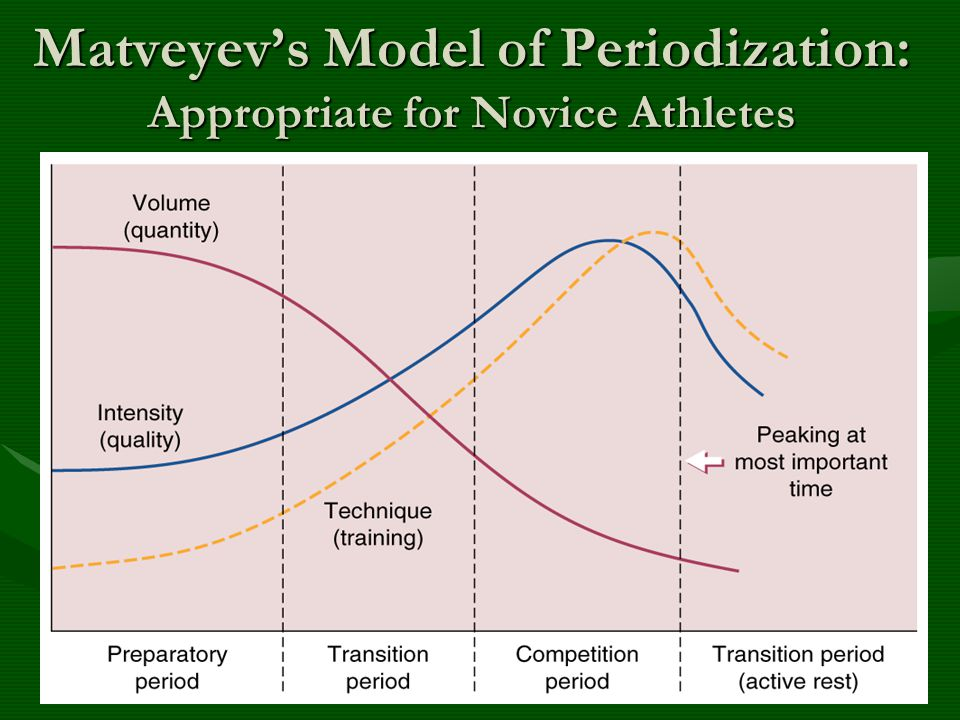 Matveyev's Model of Periodization: Appropriate for Novice Athletes