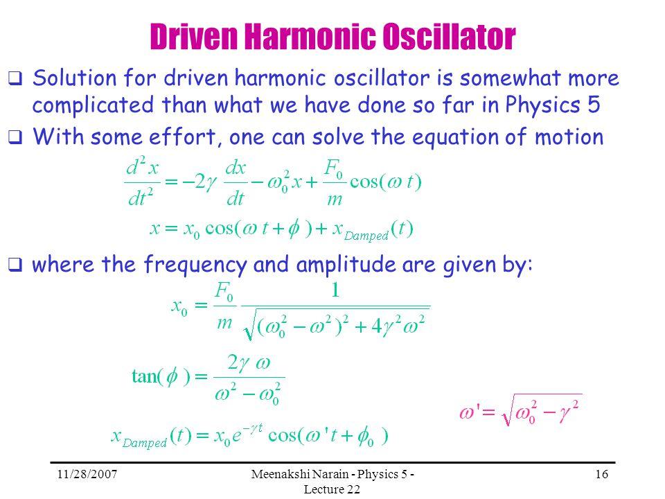 Driven Harmonic Oscillator