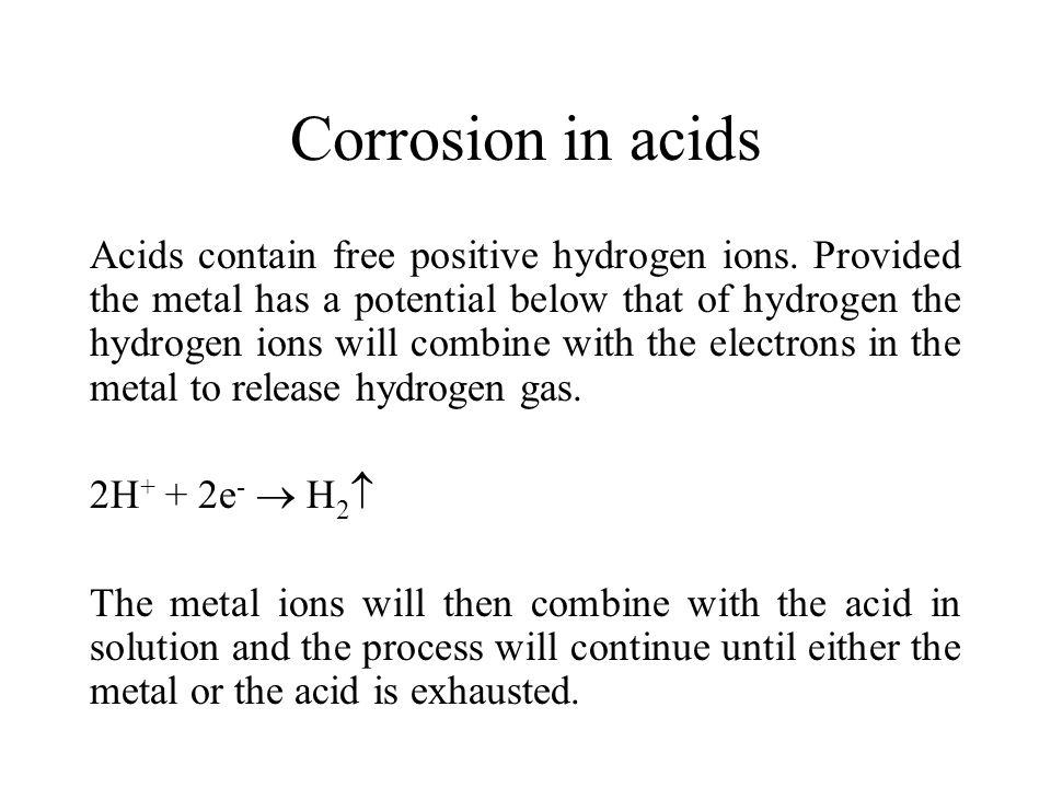 Corrosion in acids