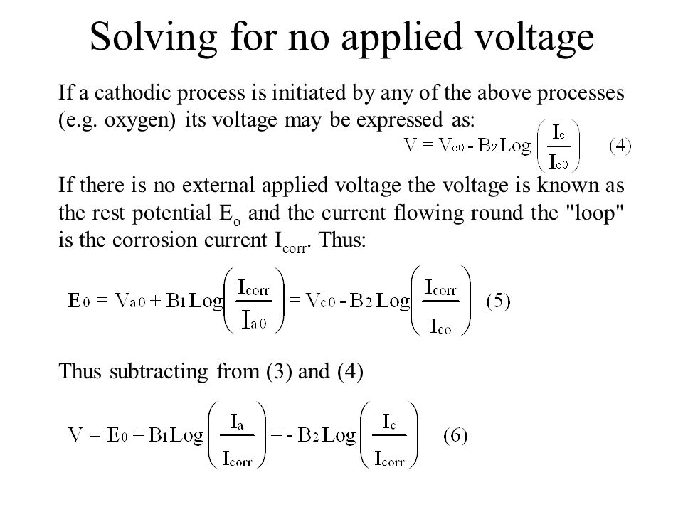 Solving for no applied voltage