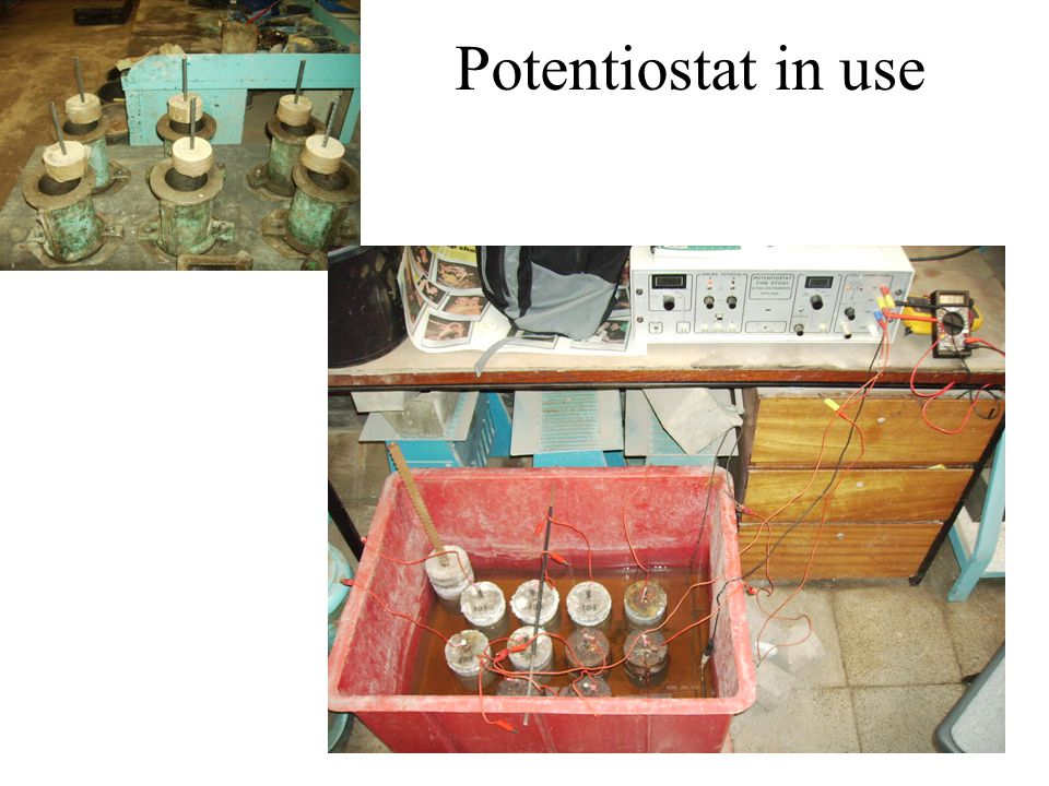 Potentiostat in use