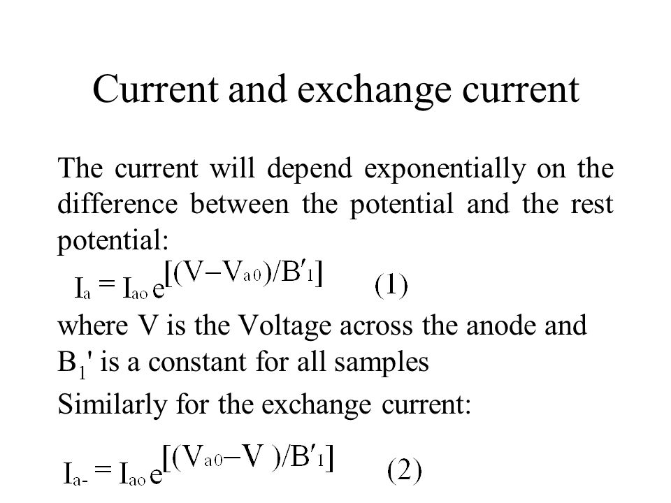 Current and exchange current