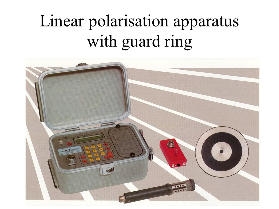 Linear polarisation apparatus with guard ring