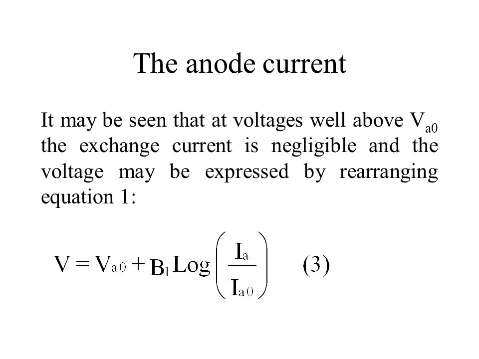 The anode current