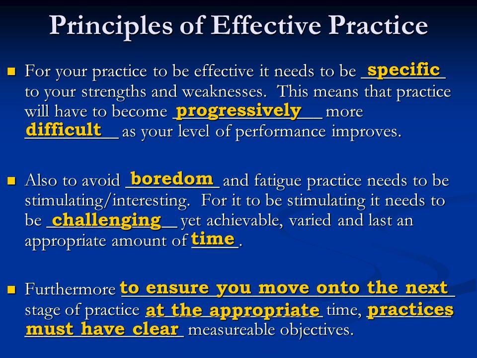 Principles of Effective Practice