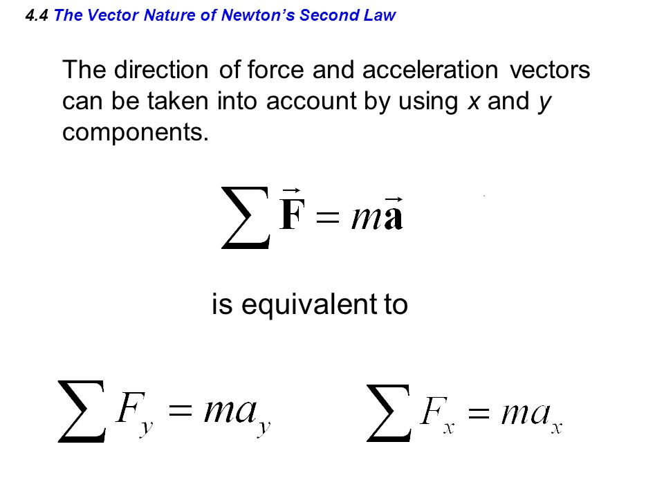 4.4 The Vector Nature of Newton's Second Law