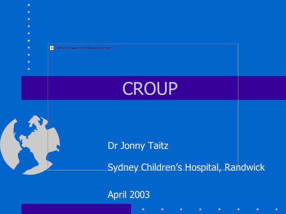 Dr Jonny Taitz Sydney Children's Hospital, Randwick April 2003