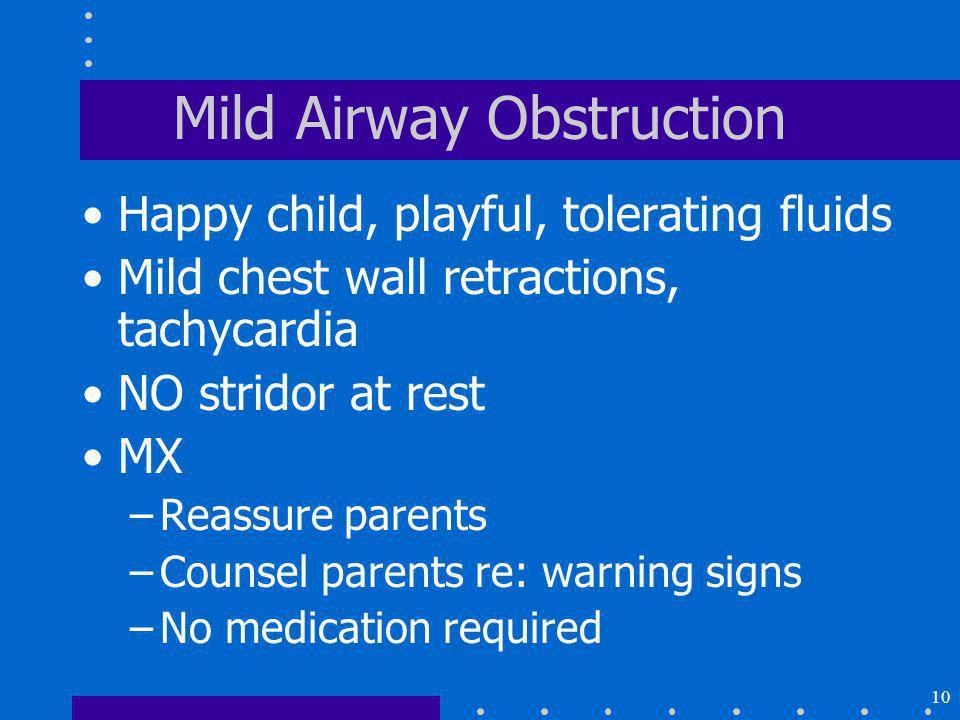 Mild Airway Obstruction