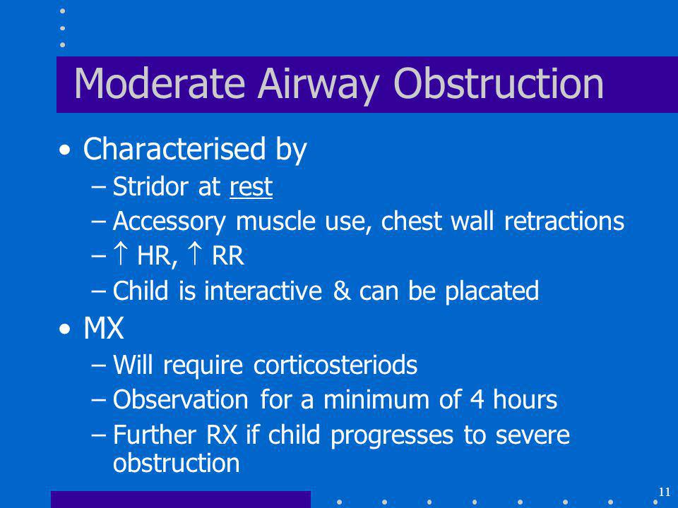 Moderate Airway Obstruction