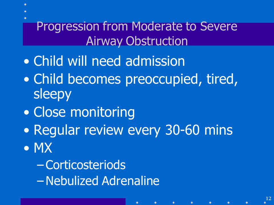 Progression from Moderate to Severe Airway Obstruction