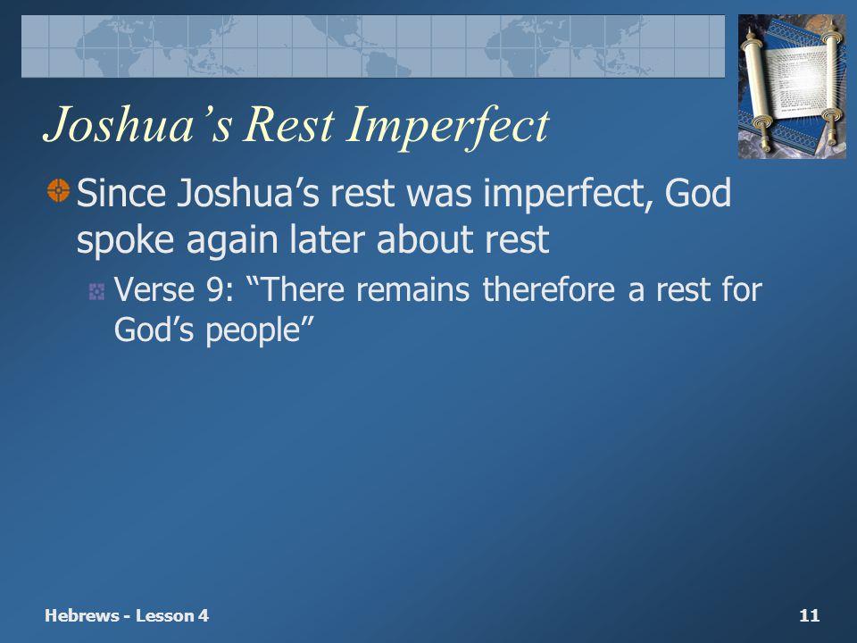 Joshua's Rest Imperfect