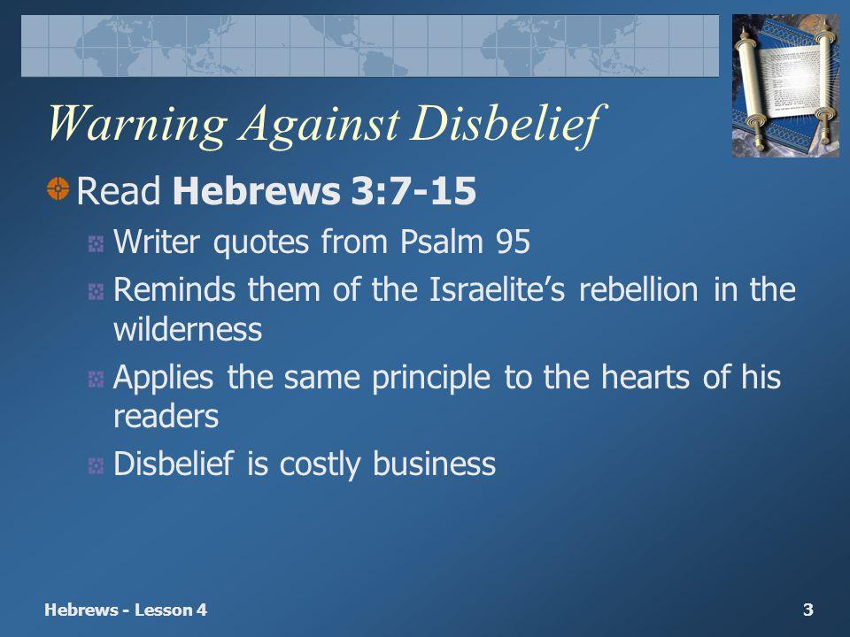 Warning Against Disbelief