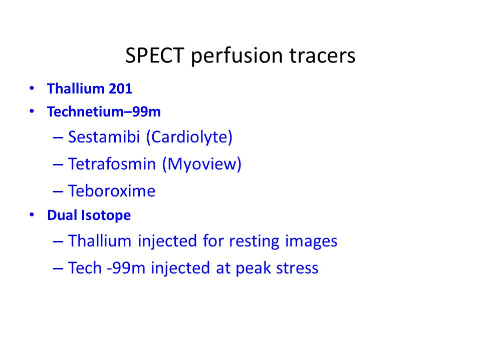 SPECT perfusion tracers