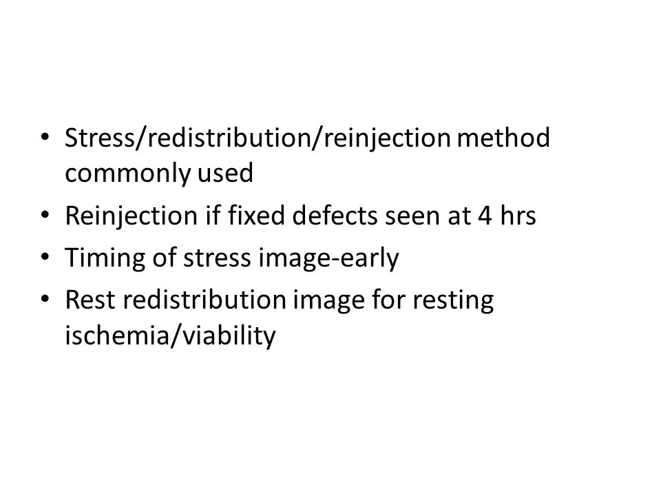 Stress/redistribution/reinjection method commonly used