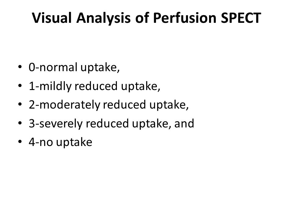 Visual Analysis of Perfusion SPECT