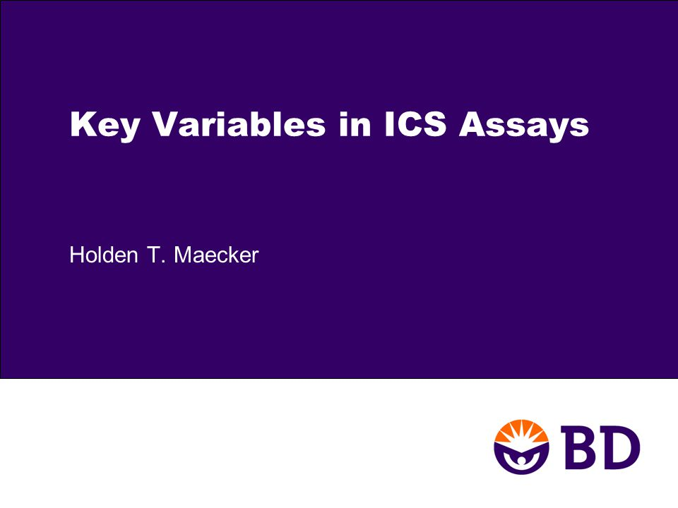 Key Variables in ICS Assays