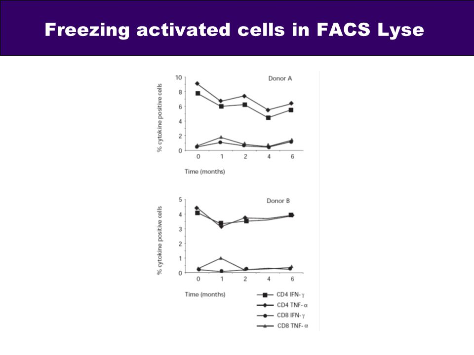 Freezing activated cells in FACS Lyse