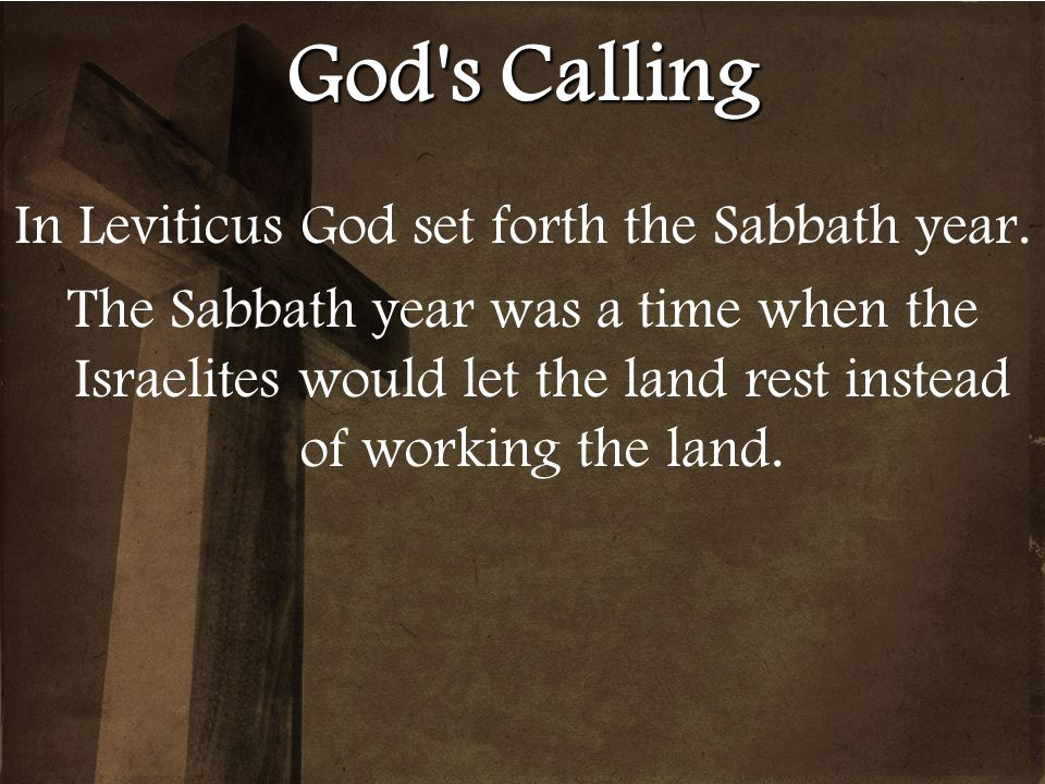 In Leviticus God set forth the Sabbath year.