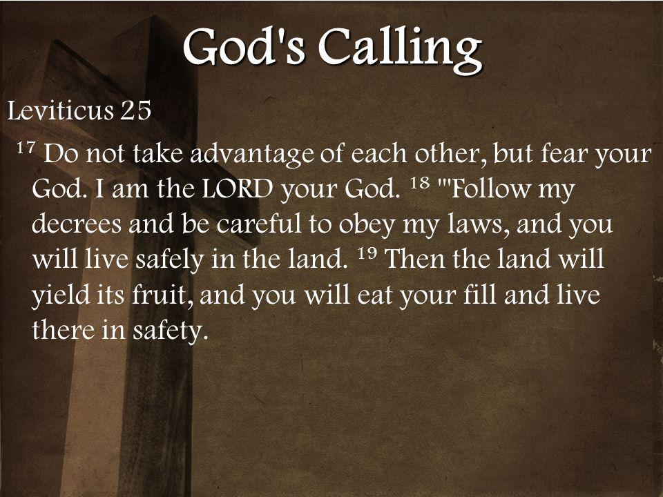 God s Calling Leviticus 25