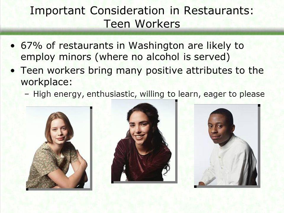 Important Consideration in Restaurants: Teen Workers