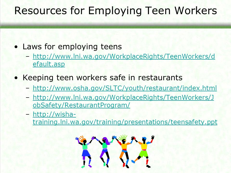Resources for Employing Teen Workers