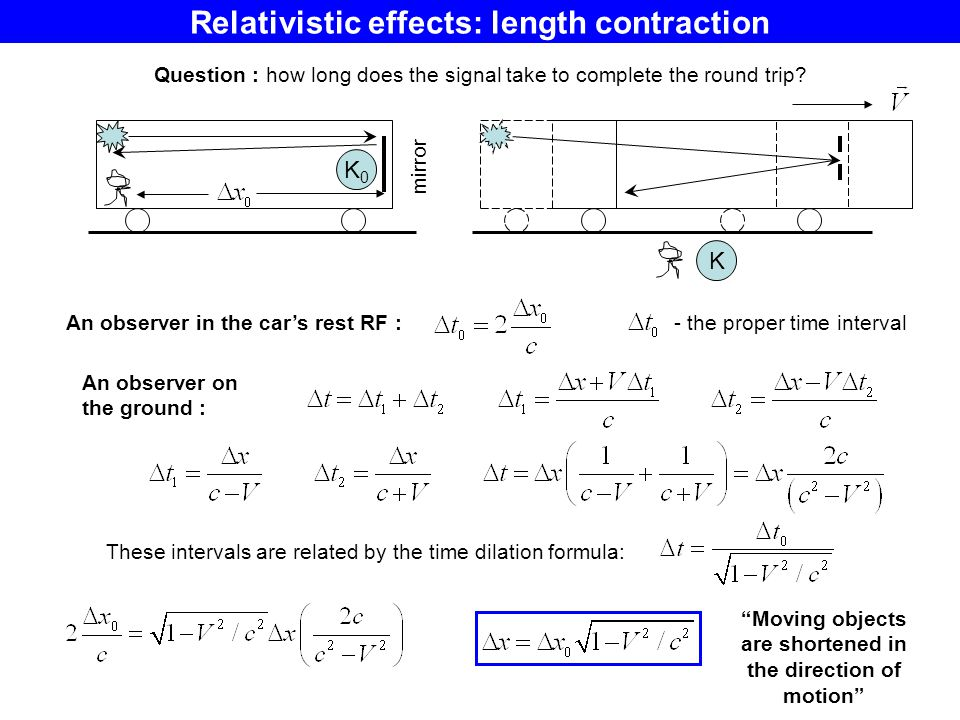Relativistic effects: length contraction