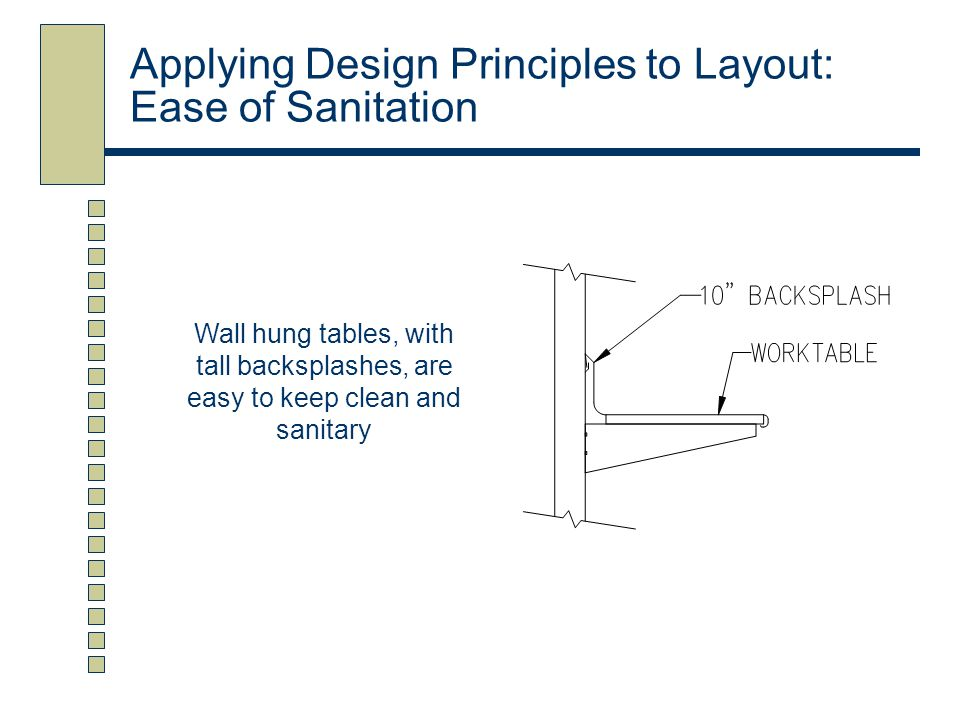 Applying Design Principles to Layout: Ease of Sanitation