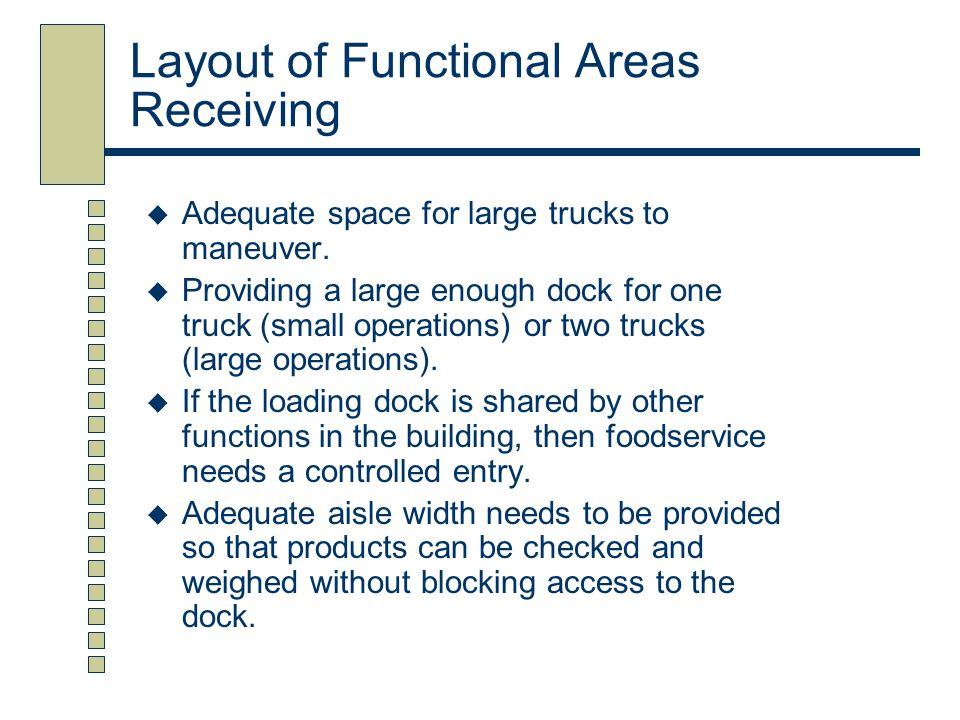 Layout of Functional Areas Receiving