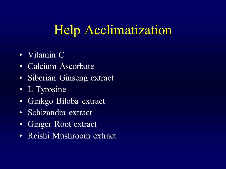Help Acclimatization Vitamin C Calcium Ascorbate