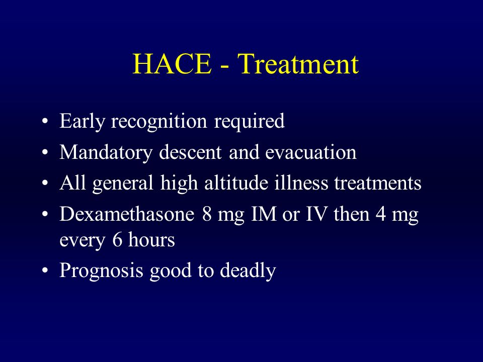 HACE - Treatment Early recognition required