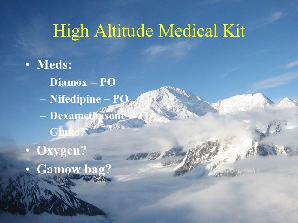 High Altitude Medical Kit