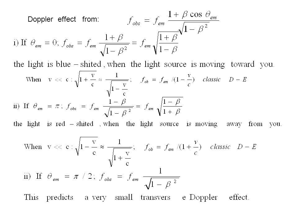 Doppler effect from: