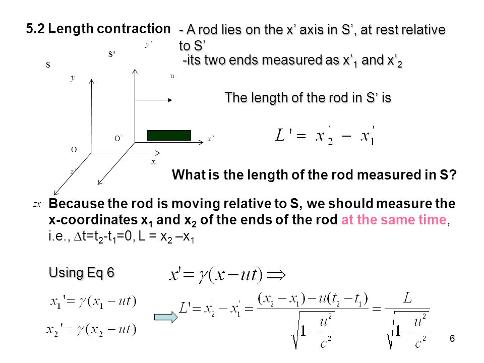 What is the length of the rod measured in S