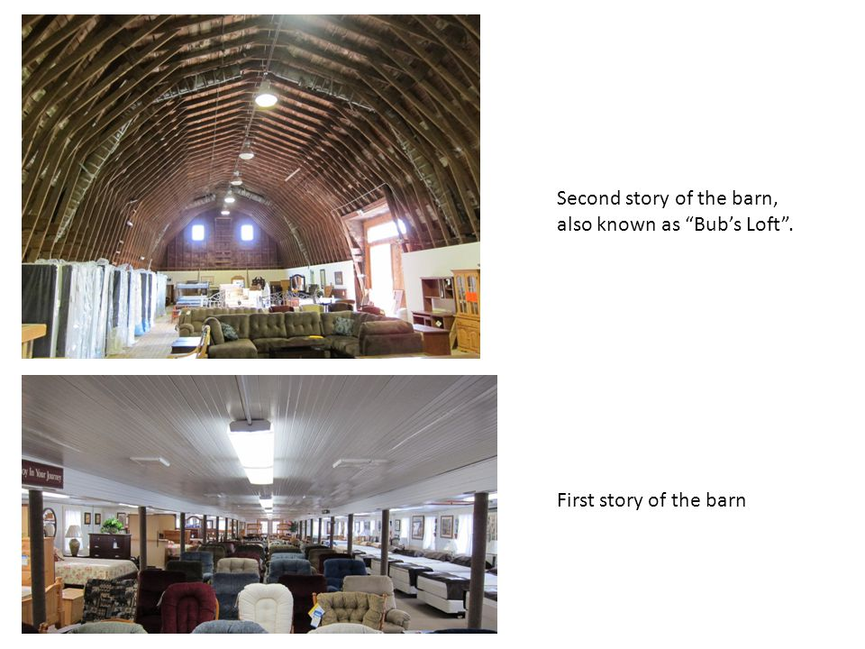 Second story of the barn, also known as Bub's Loft .