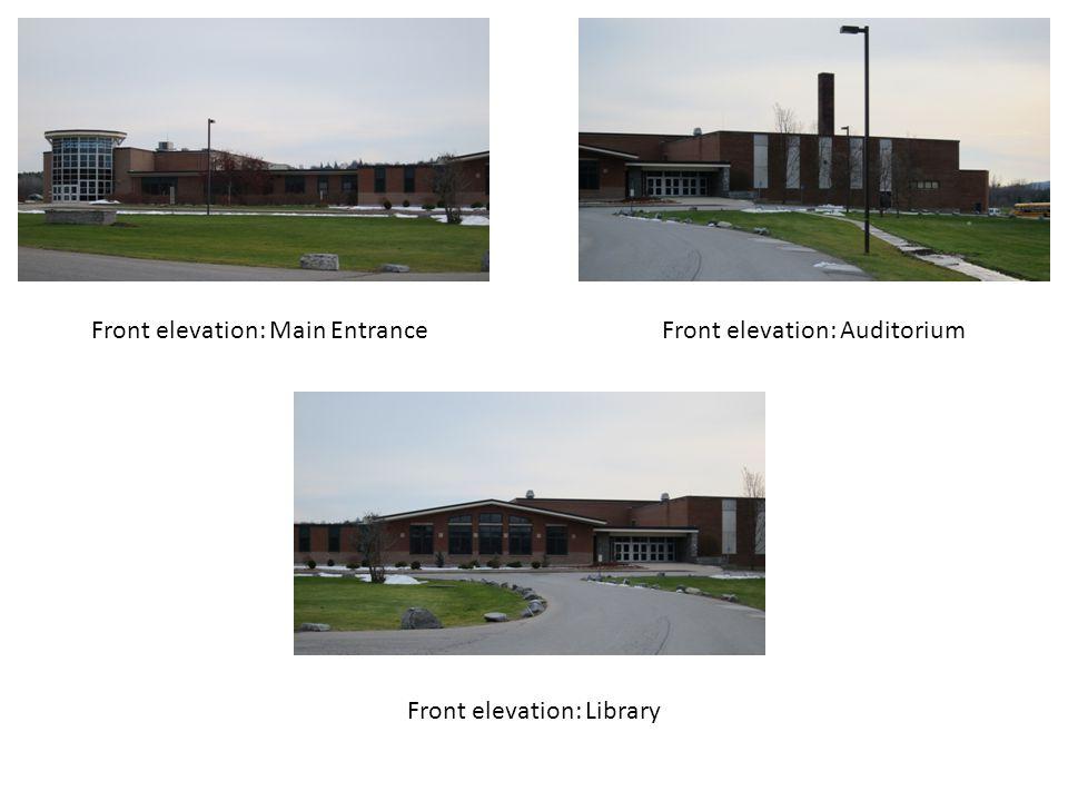 Front elevation: Main Entrance