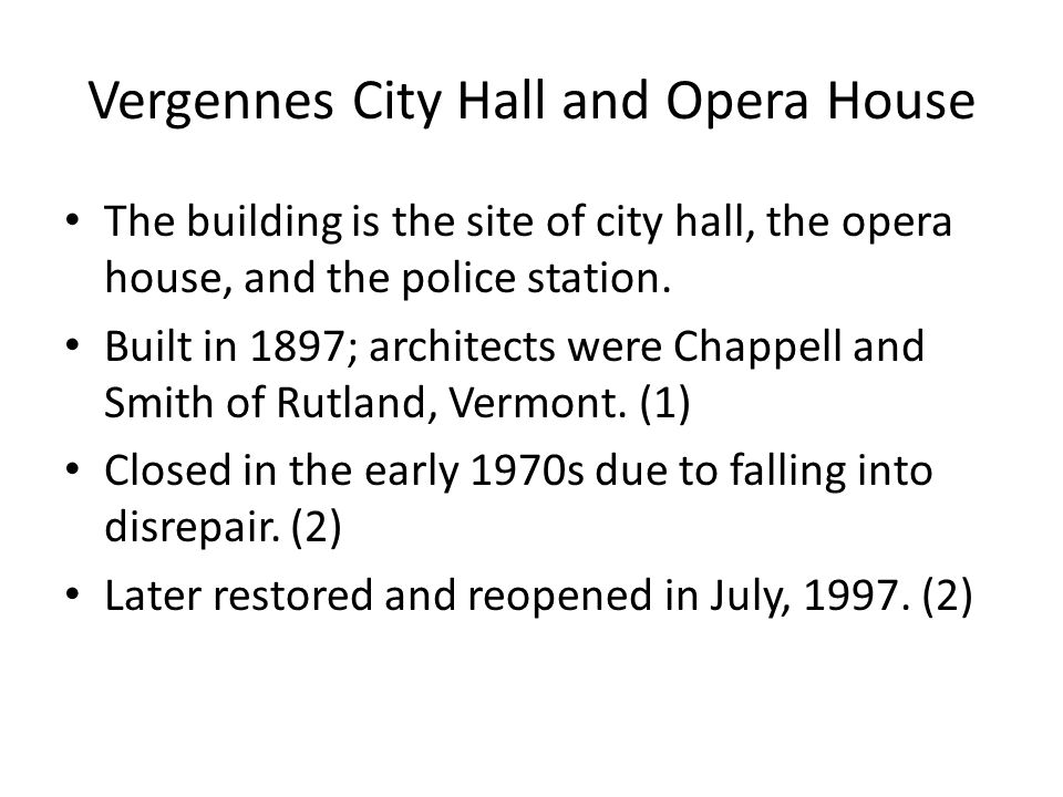 Vergennes City Hall and Opera House