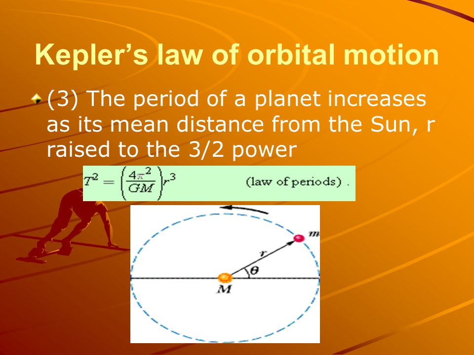 Kepler's law of orbital motion