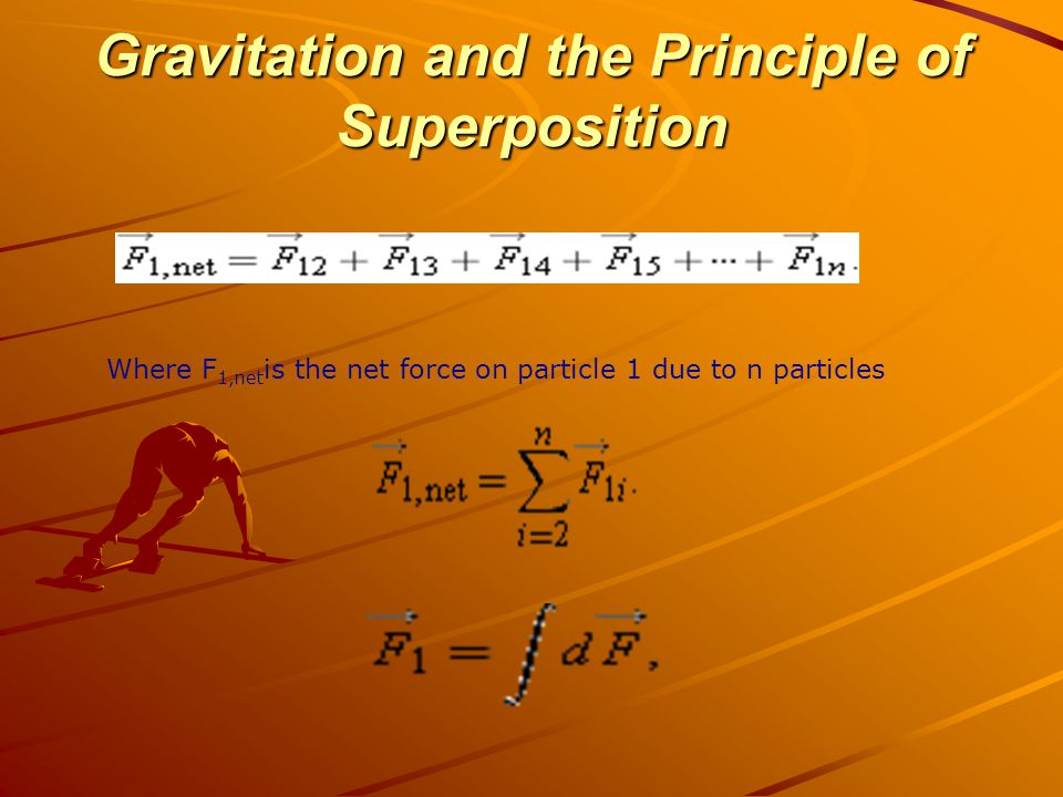 Gravitation and the Principle of Superposition