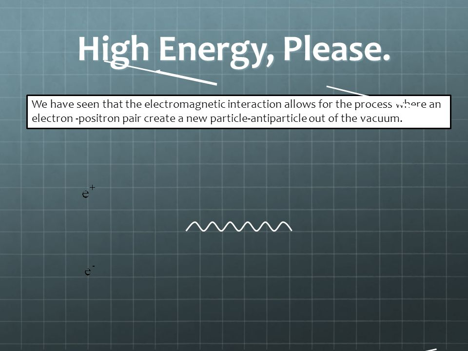 High Energy, Please.
