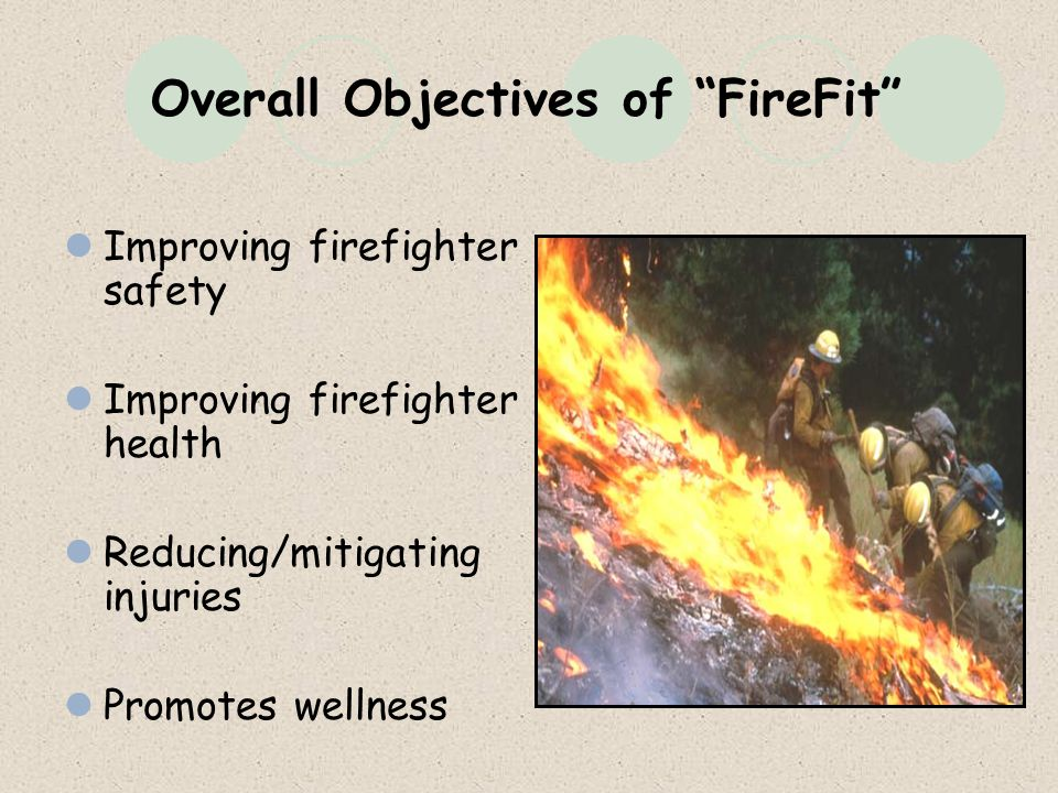 Overall Objectives of FireFit