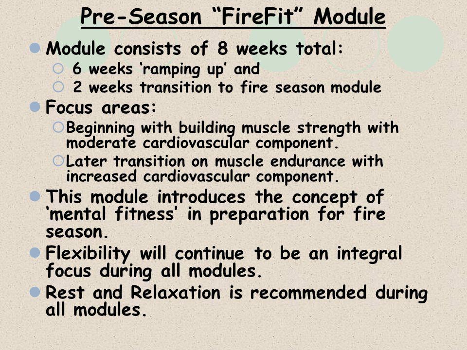 Pre-Season FireFit Module