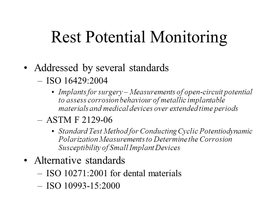 Rest Potential Monitoring